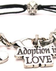 Adoption-Is-Love-Black-Cord-Pewter-Beaded-Bracelet-0