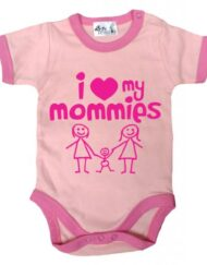 Dirty-Fingers-I-love-heart-my-Mommies-Baby-Toddler-Bodysuit-with-trim-3-6-mths-Pink-with-Bubble-gum-pink-trim-0